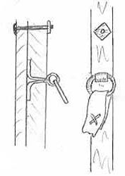 Схема крепления колец держателей